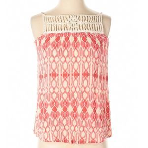 Maurices pink boho diamond tank top